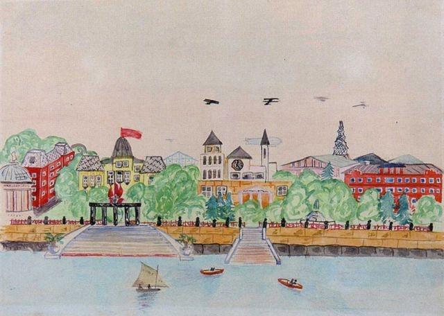 «Социалистический город». Неизвестный автор, 14 лет, 1934.