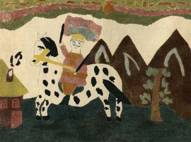 Красноармеец верхом на коне. Неизвестный автор, 8 лет, 1928 год, Журнал «Еж», № 2