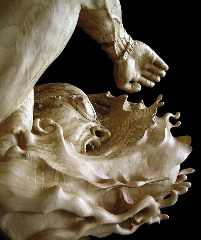 20 реалистичных скульптур из дерева