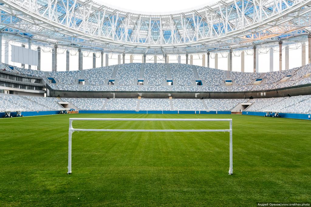 Строительство стадиона «Нижний Новгород» 2017 (состояние на ноябрь)