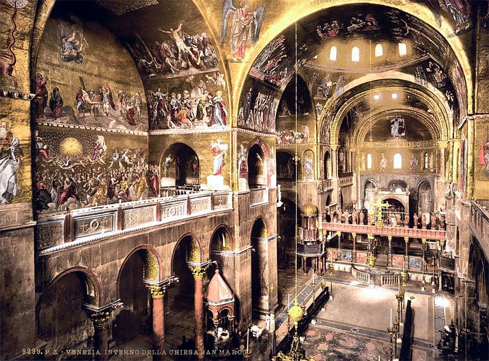 Красивые цветные фотографии Венеции 1890-х годах
