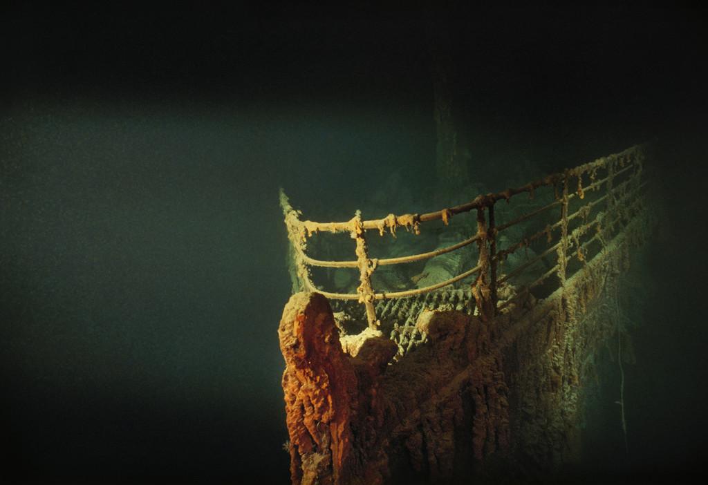 "Нос ""Титаника"" на дне Атлантики, 1991:"