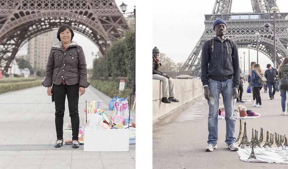"""Серия снимков """"китайской подделки Парижа"""""""
