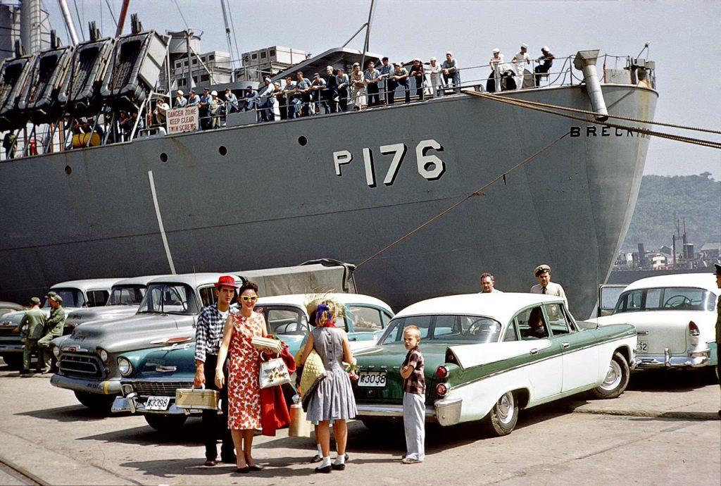 Транспортный корабль ВМС США USNS Breckinridge, 1959 год
