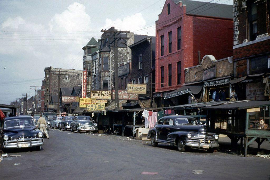 Максвелл-стрит, Чикаго. 1953 год