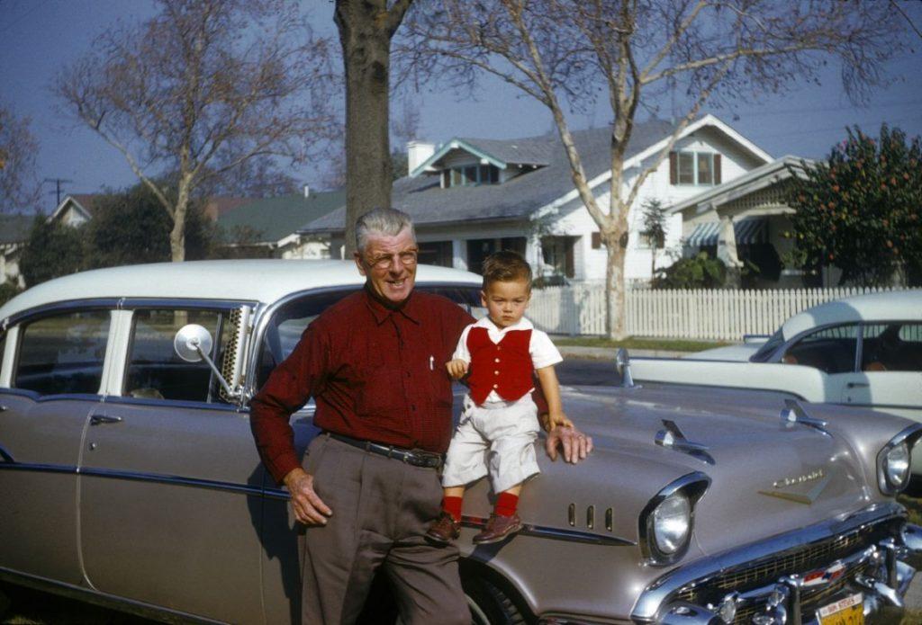Дедушка с внуком, 1954 год