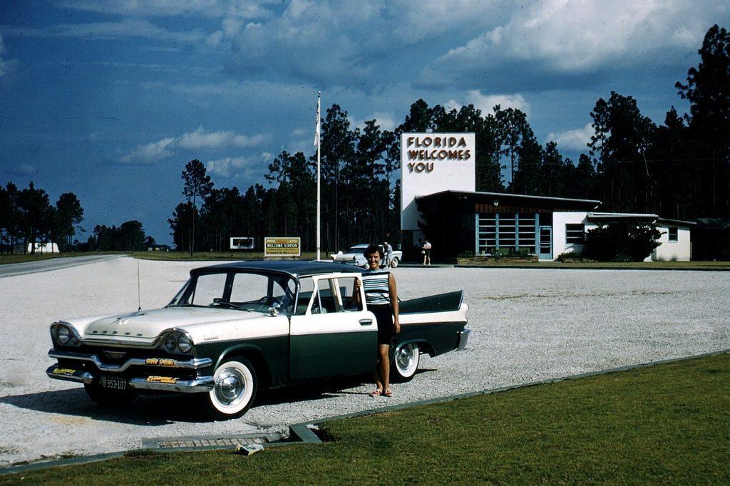 На въезде в штат Флорида, 1958 год