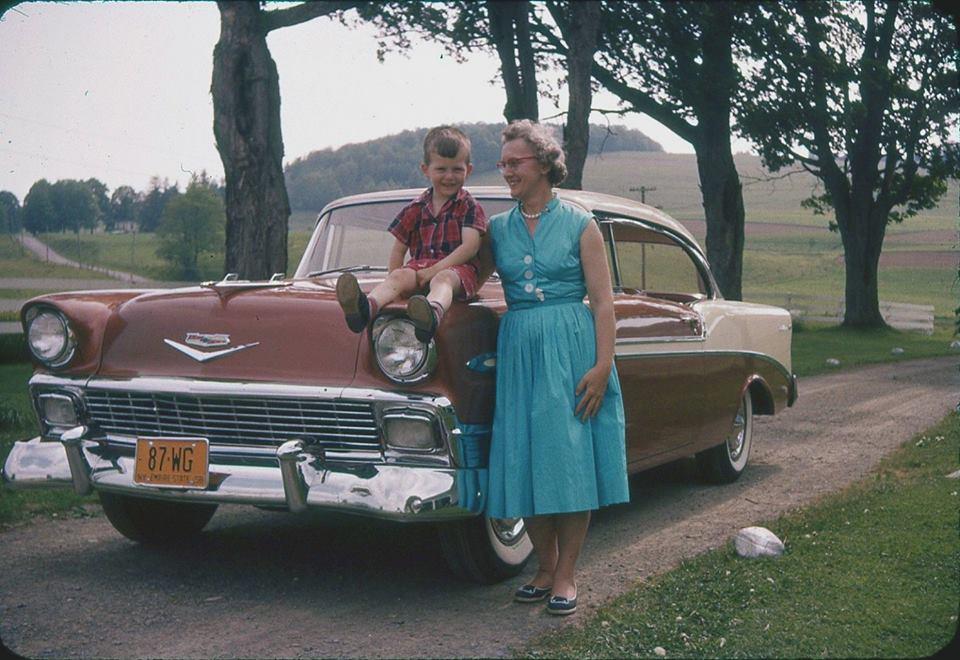 Бабушка с внуком, штат Нью-Йорк, 50-е года