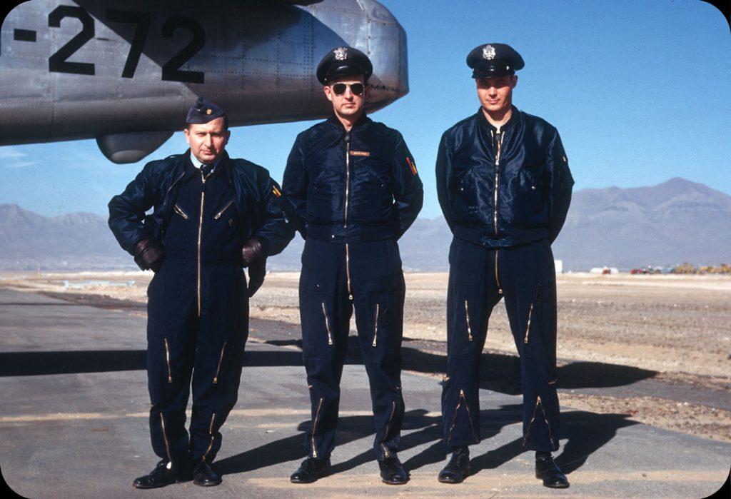Пилоты на авиабазе в Эль Пасо, Техас, 1953 год