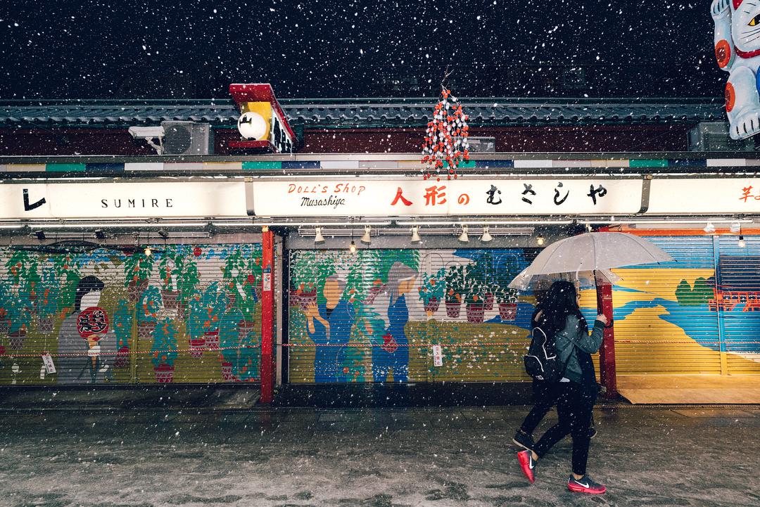 Токио в снегу