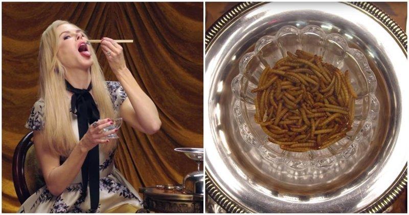 Николь Кидман ест жуков