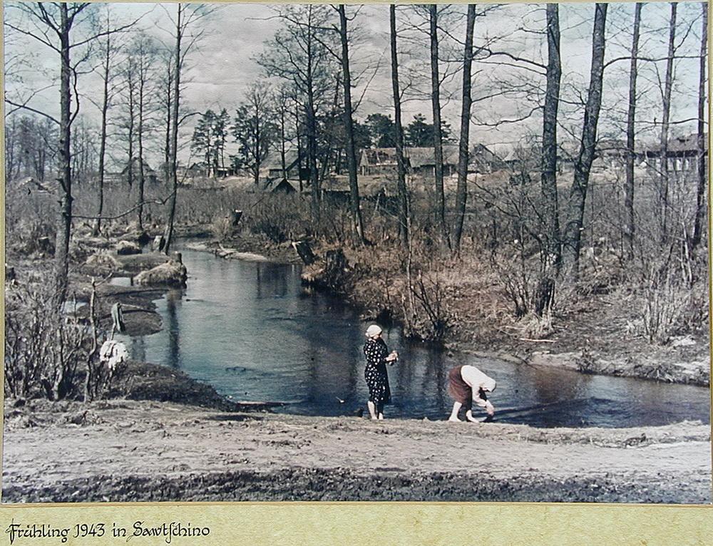 Деревня в Калужской области на снимках немецкого солдата