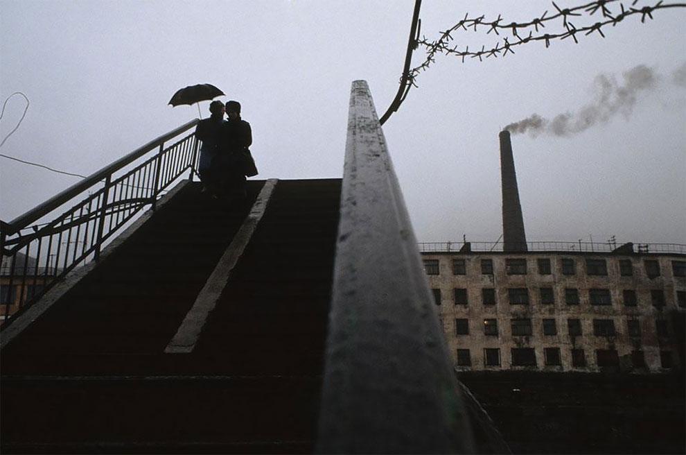 Бухта провидения, Берингов пролив, труба электростанции, 1991 г