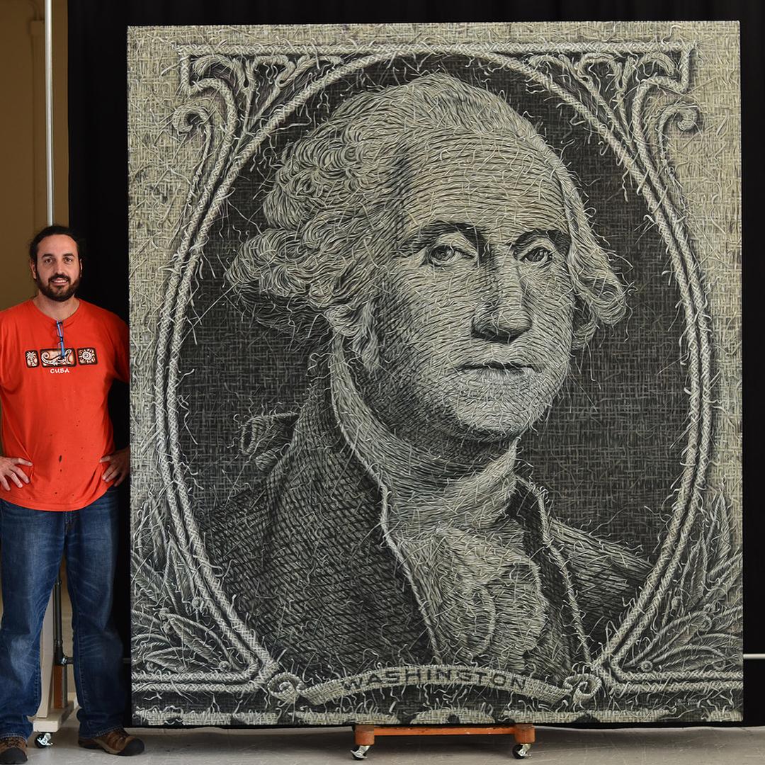 «Плетение» картины Алекси Торрес показывают связь между человеком и природой