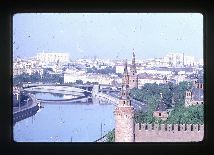 Цветные фотографии Москвы 1969г.