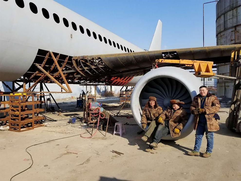 Китайский фермер строит самодельный Airbus A320