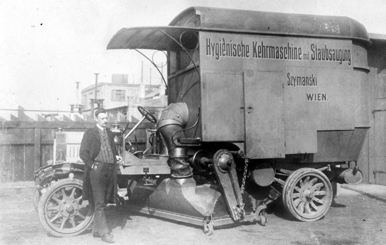 Спец. автомобиль для уборки улиц, Вена, 1896 год