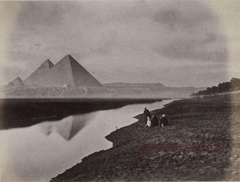 Вид на пирамиды, Гиза, Египет, 1884 год