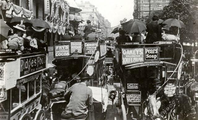 Как выглядели пробки транспортных средств в прошлом