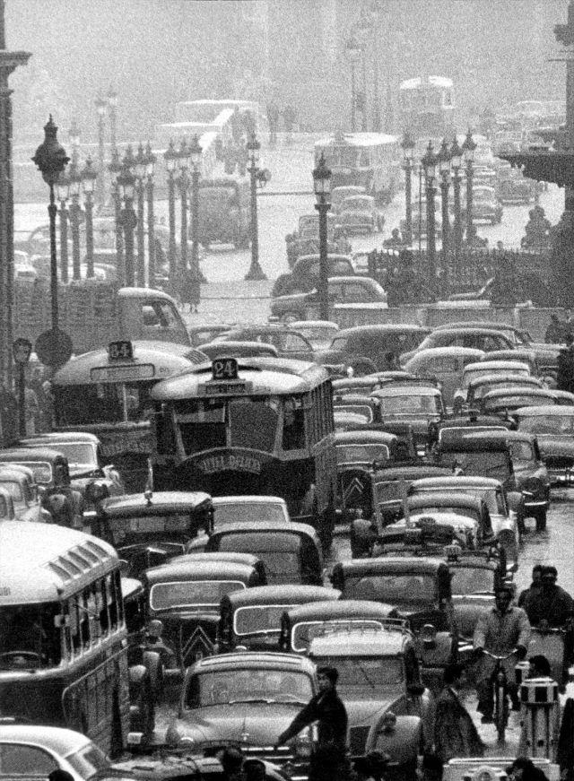 Мост согласия, Париж, 1956