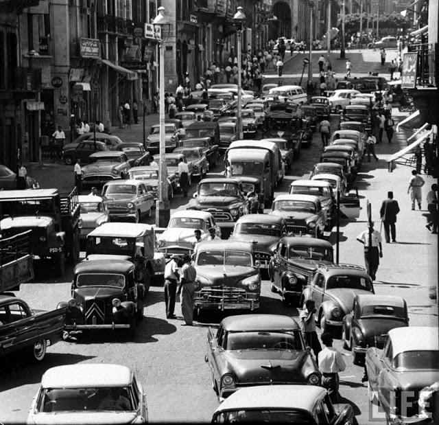 Пробка на улица Алленби, Ливан, 1958