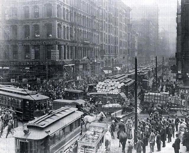 Час пик в Чикаго, 1909
