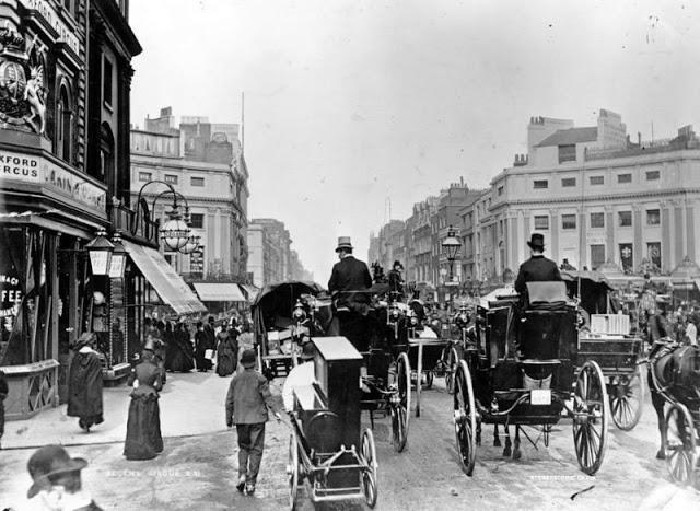 Движение на Риджент серкус, в настоящее время Оксфорд-серкус, 1888