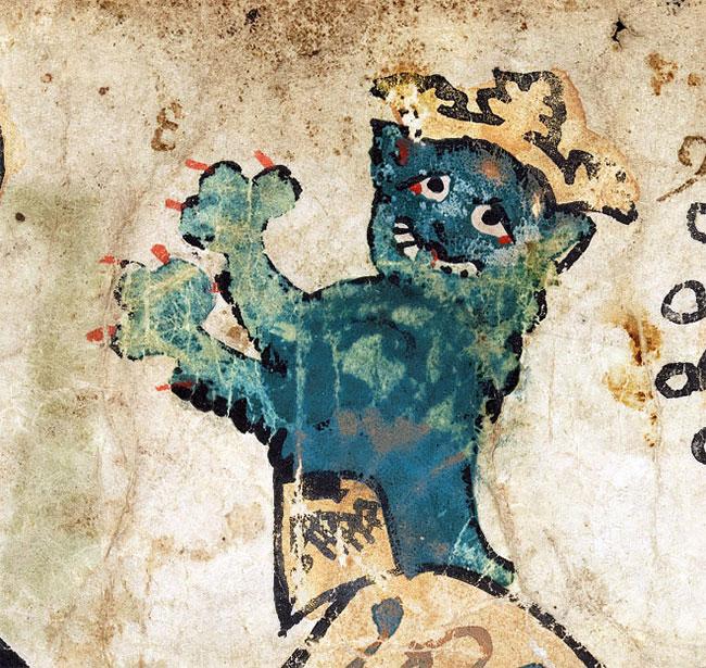 Уродливые средневековые картины кошек