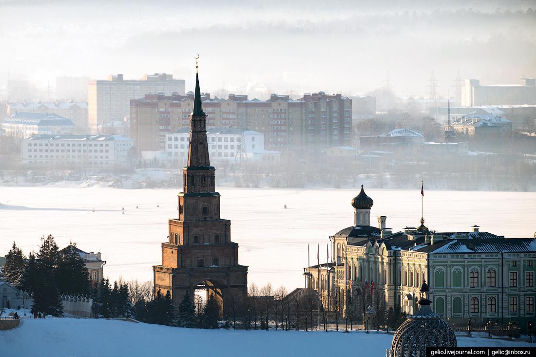 Казань зимой с высоты