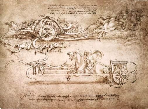 Виды оружия которые изобрел Леонардо да Винчи