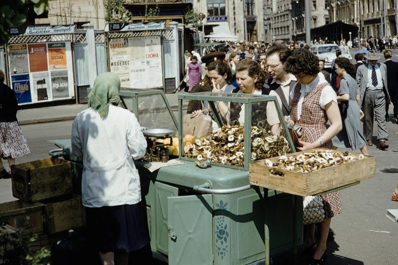 Уличная торговля в советской Москве в 1950-е годы