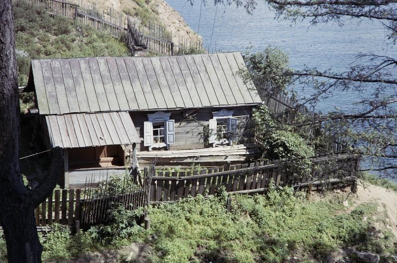 Американский турист на озере Байкал в 1964 году
