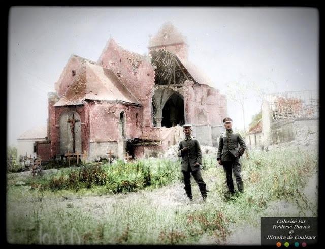 Раскрашенные фотографии немецких военнослужащих Первой мировой войны