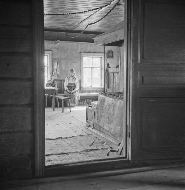 Типичная Карельская деревня в 1940-ых годах
