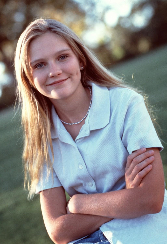 Молоденькая Кирстен Данст в 1995 году