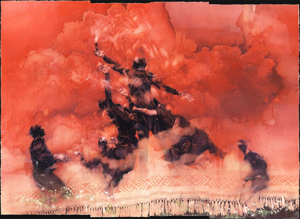 Блестящие акварельные иллюстрации Димы Ребуса
