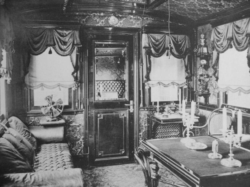 Редкие фотографии интерьера Императорского поезда семьи Романовых.