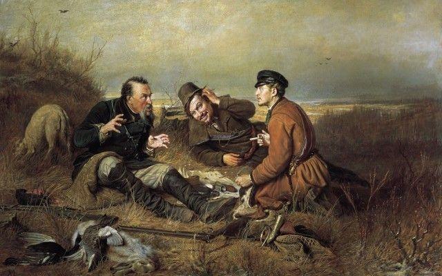 """""""Охотники на привале"""", 1871"""