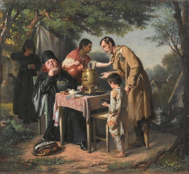Чаепитие в Мытищах, близ Москвы, 1862
