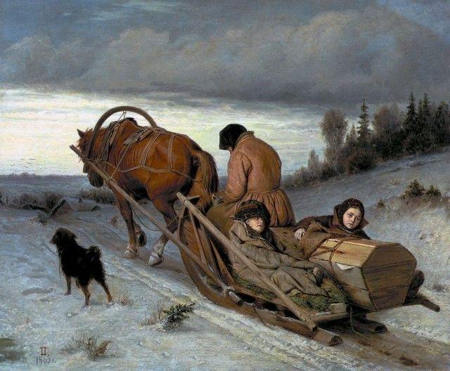 Проводы покойника, 1865