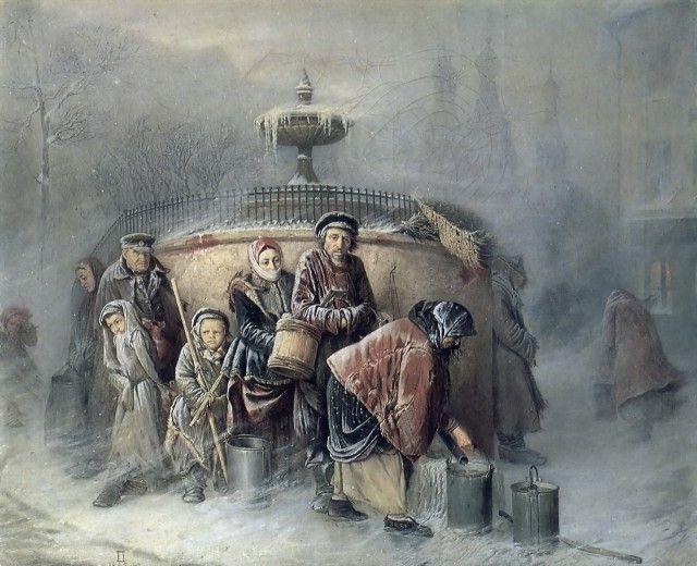 «Очередные у бассейна» 1866