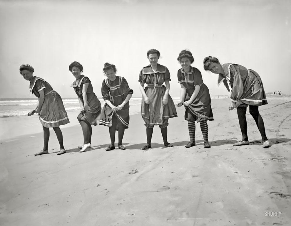 Потрясающие фотографии людей викторианской эпохи на пляжах