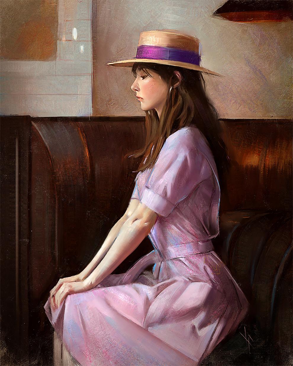 Женские портреты художника Жюстина Флорентино