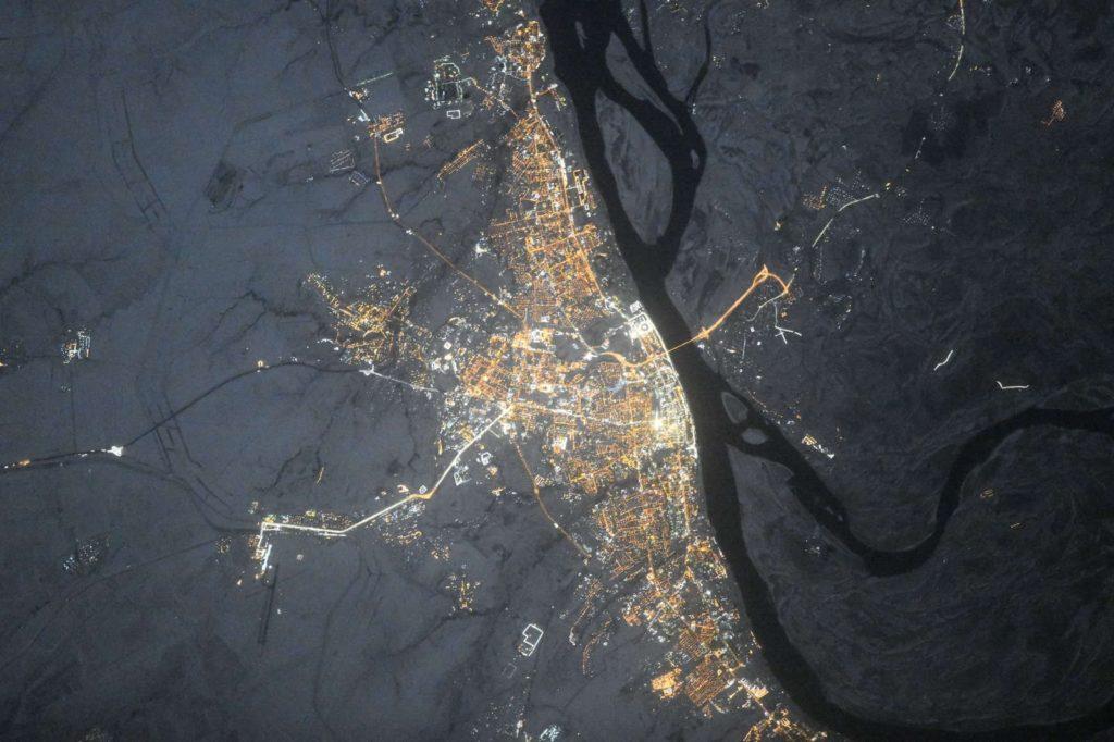 Российские города вид из космоса