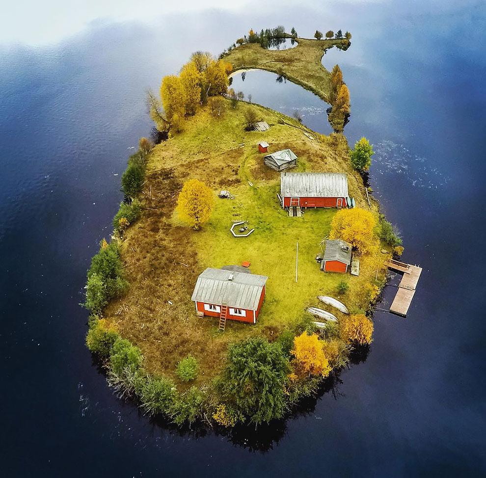 Потрясающие снимки острова в Финляндии в течение четырех сезонов