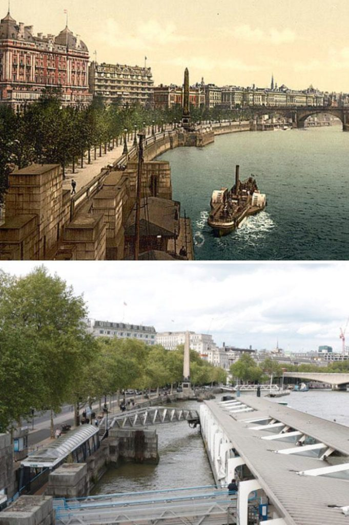 7 фотографий старой и новой Англии, сделанных на одном и том же месте 125 лет спустя