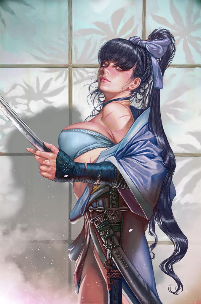 Цветок Тьмы: Великолепные фэнтезийные портреты и произведения искусства от Kyu Yong Eom