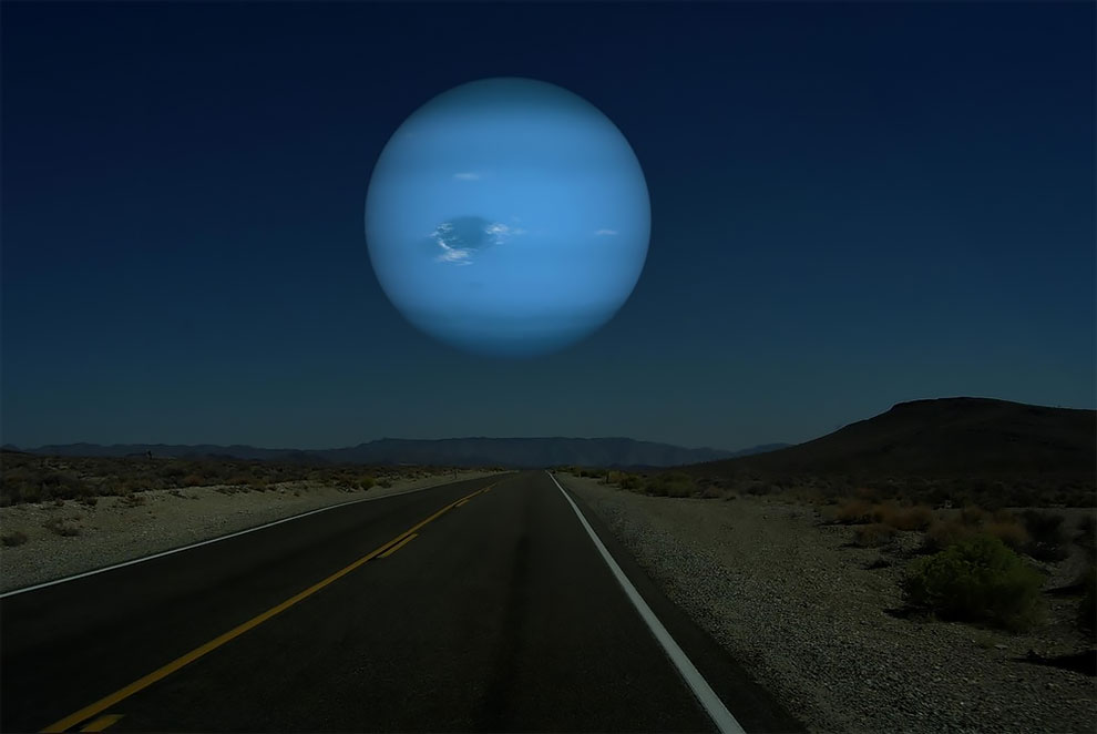 Если бы Луна была заменена планетами из нашей Солнечной системы