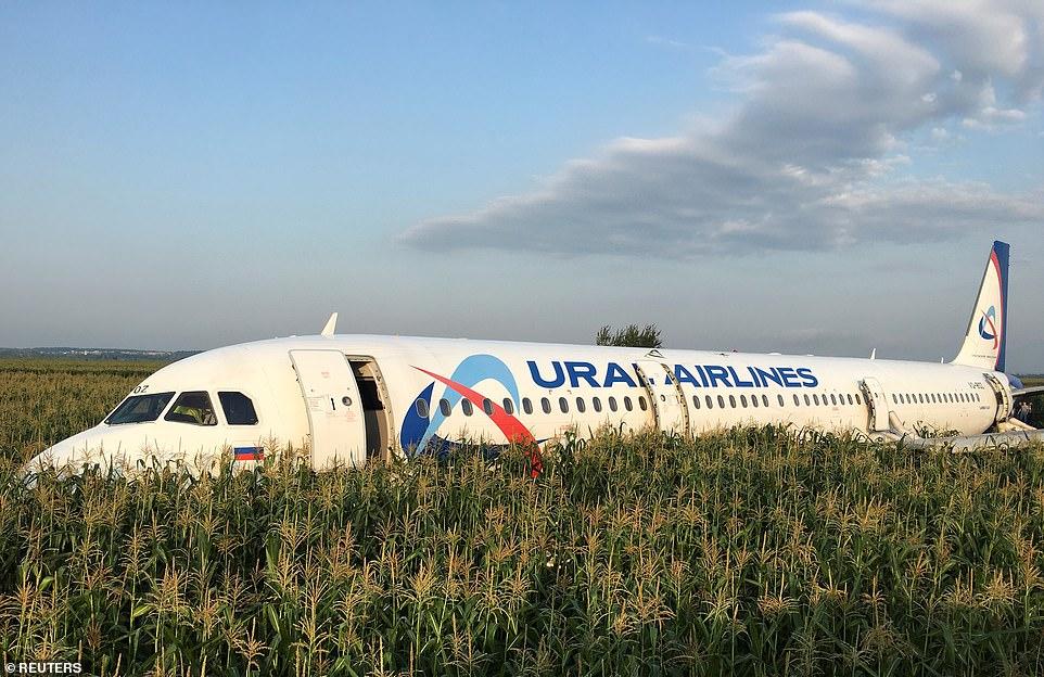 Аварийная посадка самолета А321