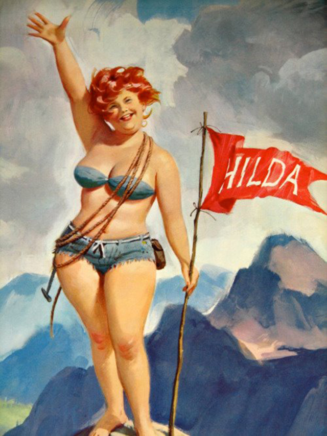 Познакомьтесь с Хильдой: забытой девушкой в стиле пин-ап в Америке